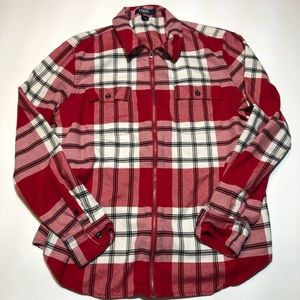 Chaps Flannel full zip Large